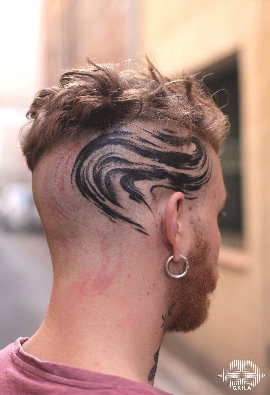 head,oster ,body custom,black,patterns tattoo,op art, sleeves tattoo, dotwork tattoo, qkila,geometric tattoo, ethnique tattoo, les tatoués anonymes, nimes