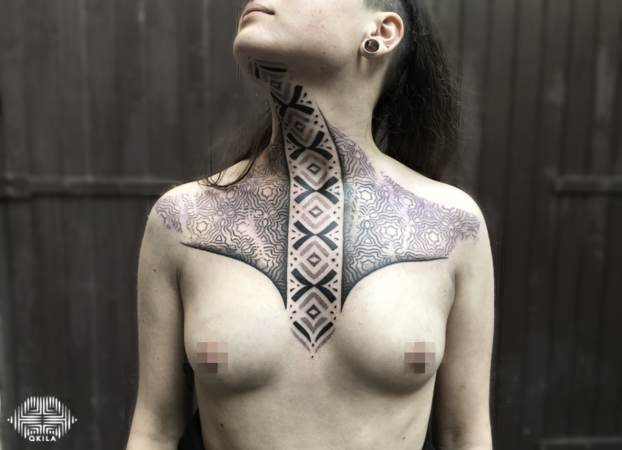 toulouse, bouzille delux,chest,patterns tattoo,op art, sleeves tattoo, dotwork tattoo, qkila,geometric tattoo, ethnique tattoo, les tatoués anonymes, nimes