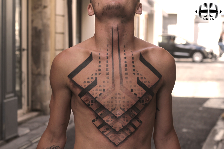 full torce, looser, noir sur noir tattoo,black on black,patterns tattoo,op art, sleeves tattoo, dotwork tattoo, qkila,geometric tattoo, ethnique tattoo, les tatoués anonymes, nimes