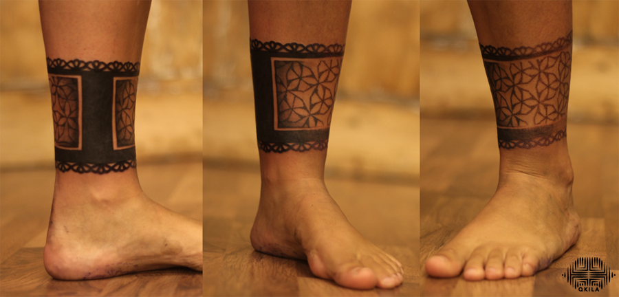 promenade noire,cover tattoo,full back,noir sur noir tattoo,black on black,patterns tattoo,op art, sleeves tattoo, dotwork tattoo, qkila,geometric tattoo, ethnique tattoo, les tatoués anonymes, nimes